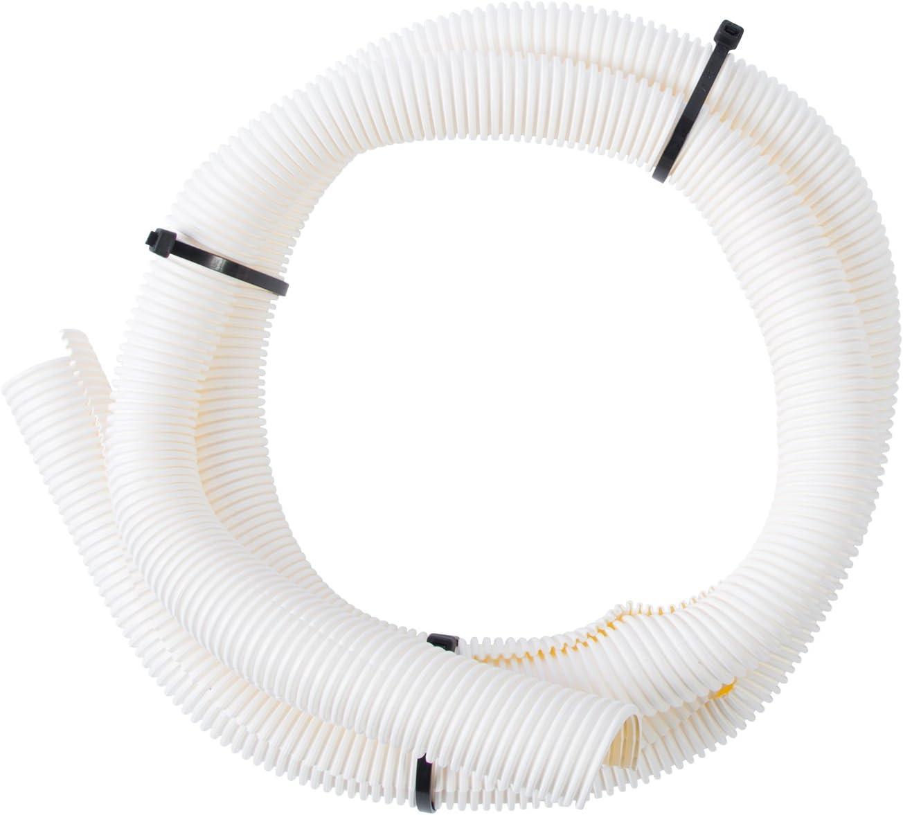 Gardner Bender FLX-1005W, White Split Flex Tubing, 1 inch x 5 ft