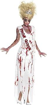 Disfraz de zombi Reina blanco L 44/46 para hacer un disfraz de ...