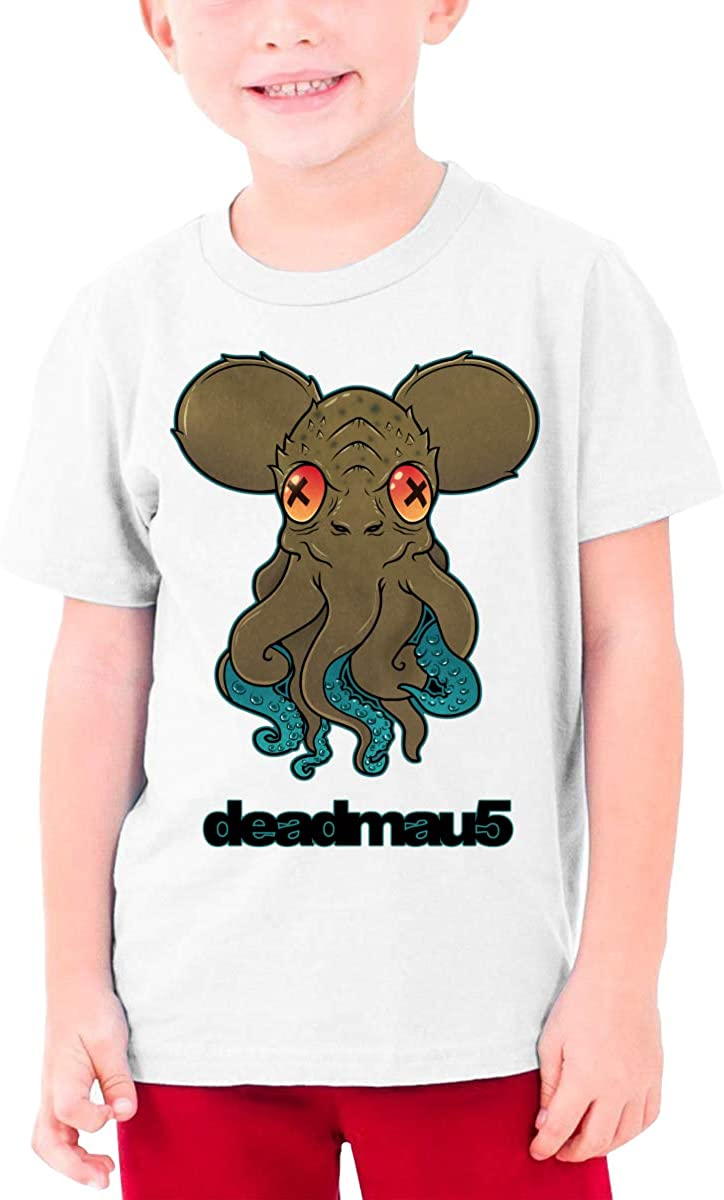 EROTEN Deadmau5 Cotton Youth T Shirts Short Sleeve for Teenager Boys Girls