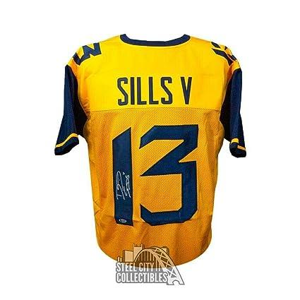 brand new 43a2e 5e842 Autographed David Sills Jersey - V Custom Yellow Football ...