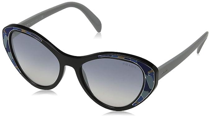 7de9182786 Prada 0pr 14us, Occhiali da Sole Donna, Nero (Black), 55: Amazon.it:  Abbigliamento