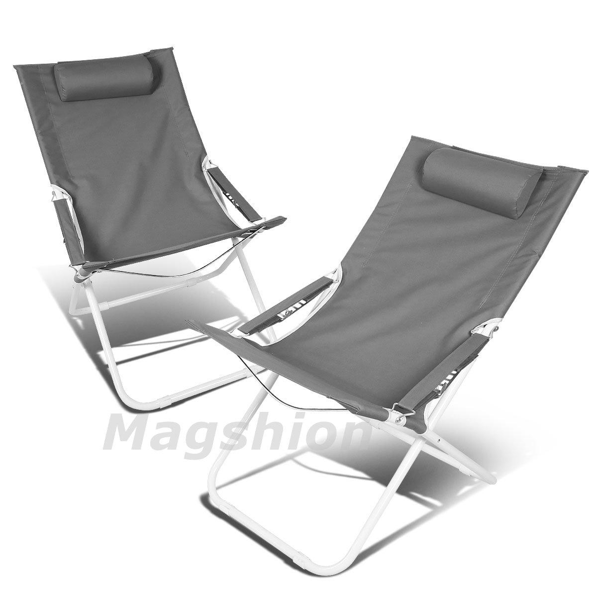お気にいる Magshion折りたたみビーチキャンプパティオアウトドア旅行リクライニング椅子2pc グリーン グレー B071WKV36V B071WKV36V グレー グレー, アウトレットshopリバティハウス:7dfb6e59 --- arianechie.dominiotemporario.com