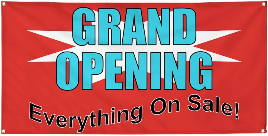 Vinyl Banner Multiple Sizes Store Closing Everything Must Be Sold A Business Outdoor Weatherproof Industrial Yard Signs 8 Grommets 48x96Inches