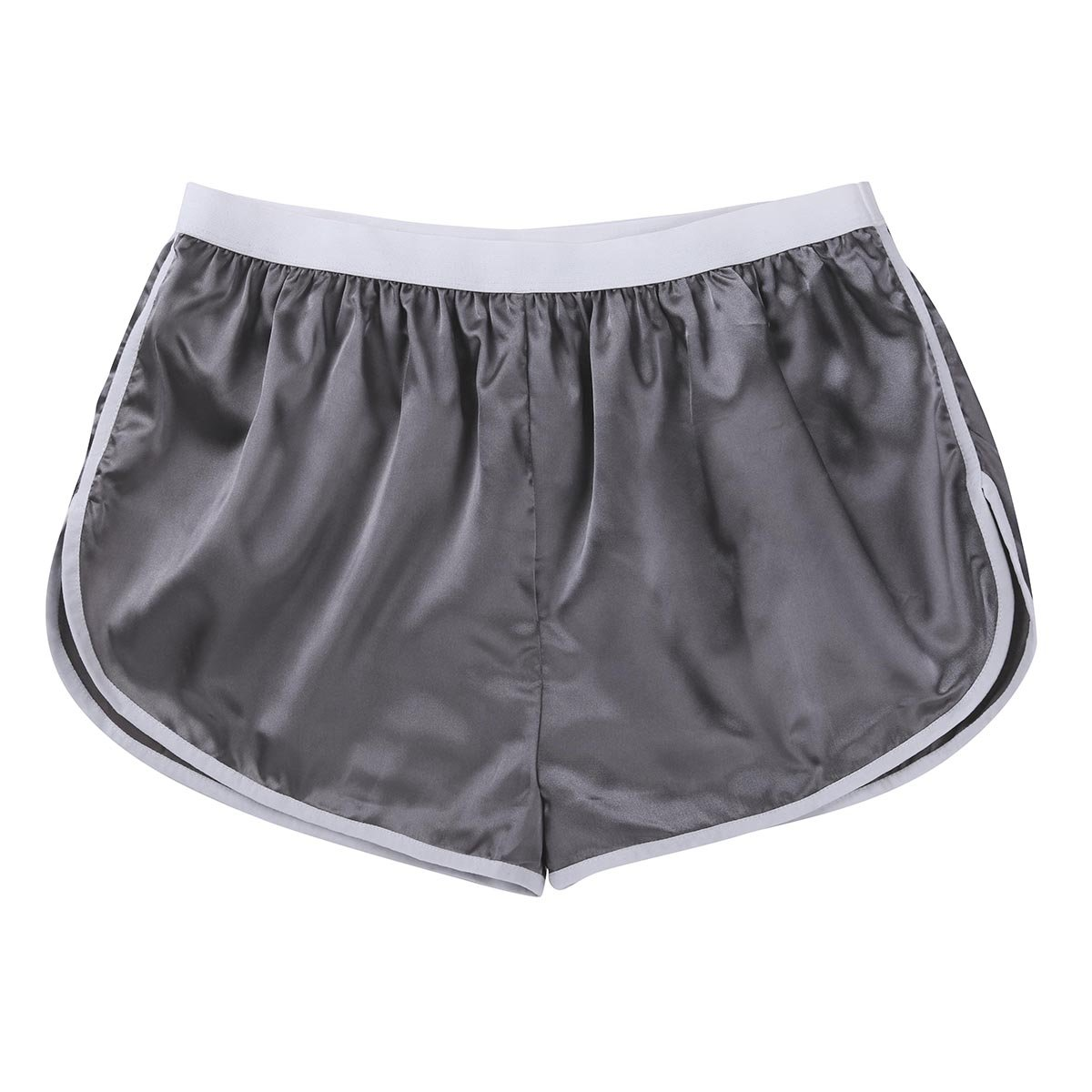 CHICTRY Men's Summer Silk Satin Shorts Frilly Boxer Briefs Casual Loose Underwear