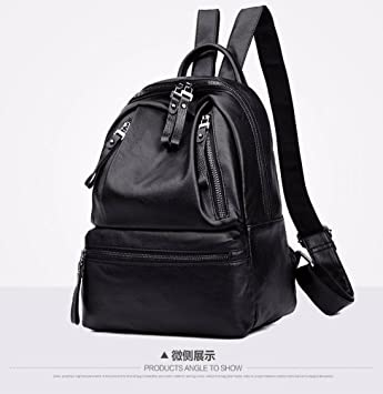 f11495001d Trend Pure Color Pu Backpack Men and Women Casual Backpack Men s Shoulder  Bag School Bag Small Fresh College Style