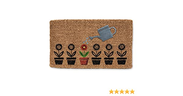Abbott Collection Can /& Flowers Home D/écor Door Mat Watering Can and Flowers