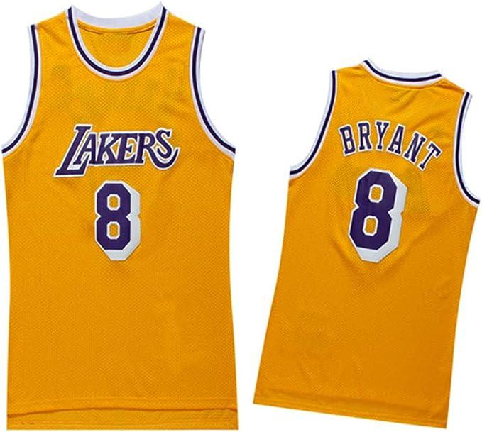 Kobe Bryant Jersey Camiseta de Baloncesto para Hombre de Los Angeles Lakers # 24 Jersey de Baloncesto Bordado de Malla Bordada