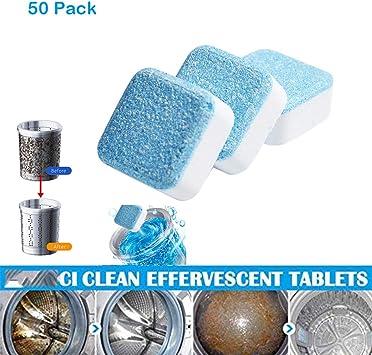 Tabletas de limpiador de lavadora, limpiador de descalcificador de ...