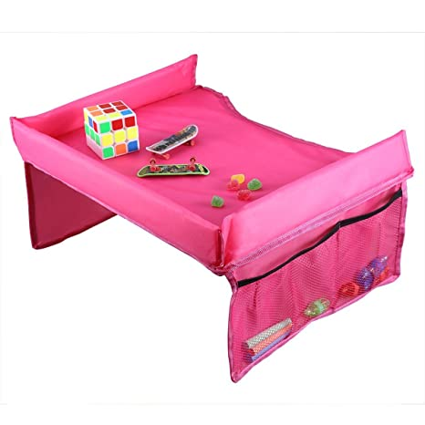 ISKIP Mesa-bandeja impermeable para niños, para coche, portátil