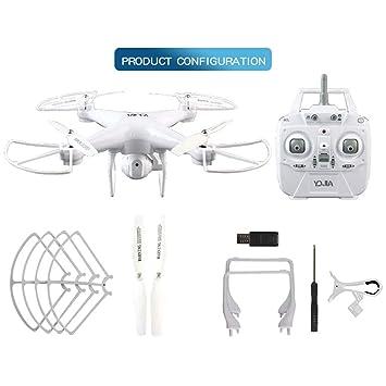 WOSOSYEYO Cámara D68W-3 0.3MP WiFi Drone FPV RC con Modo Altitude ...