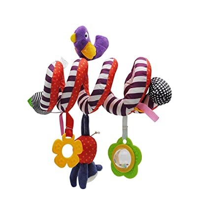 isopeen Baby Stroller Pram Crib Spiral Ornament Hanging Stuffed Toys Cute Rattle Toys: Home & Kitchen