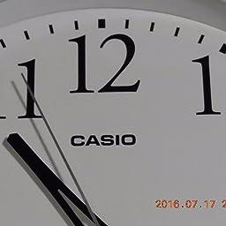Amazon Co Jp カスタマーレビュー Casio カシオ 掛け時計 電波 ホワイト 直径33cm アナログ 常時点灯 夜間秒針停止 Iq 1050nj 7jf