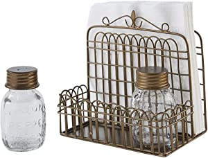 Park Designs Garden Gate Napkin Salt and Pepper Caddy
