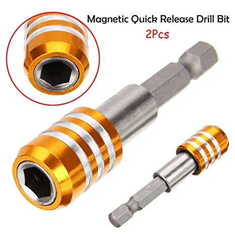"""6.35mm Magnetic Quick Release Drill Drive Screwdriver Bit Holder 1//4/""""Hex Shank"""