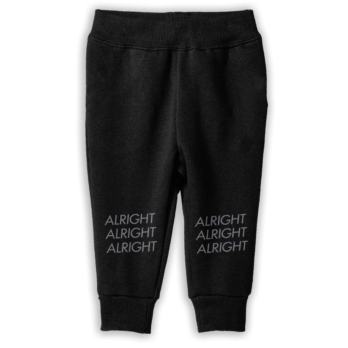 Printed Alright Alright Alright Childrens Boys Girls Unisex Cool Sweatpants