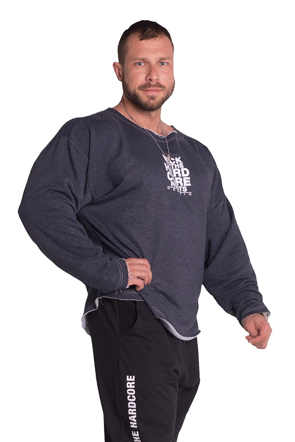 NEBBIA OverGrößed Top 342 Herren Fitness Long Sleeve T-Shirt
