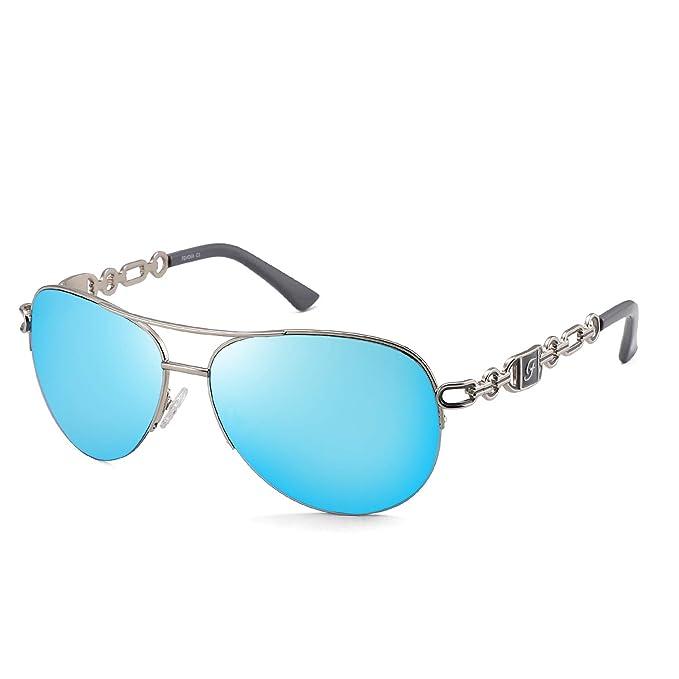 Amazon.com: Gafas de sol clásicas de aviador para mujeres y ...