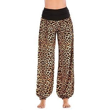 YOGOAOO Pantalones de Mujer Pantalones de Yoga de Cintura ...