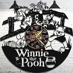 Vinyl Wall Clock - Winnie The Pooh Wall Clock - Pooh Bear Clock - Winnie The Pooh Gifts - Winnie The Pooh Wall Clock Vinyl - Teddy Bear Clock - Winnie The Pooh for Kids