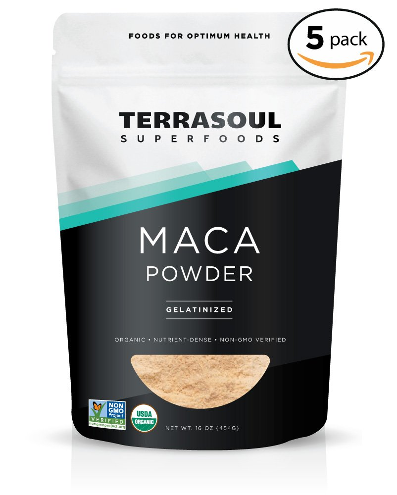 Terrasoul Superfoods Organic Gelatinized Maca Powder, 5 Pounds