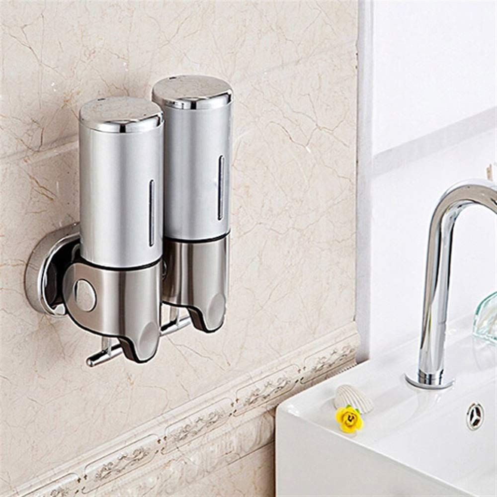 Tuersuer Easy to Assemble Soap Dispenser Wall-Mounted Manual Soap Dispenser Bathroom Liquid Soap Box