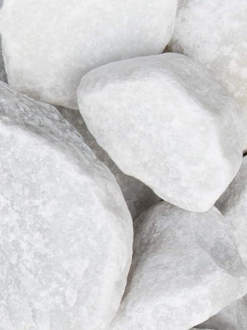 Rocalla Blanca Mármol, piedra decorativa para el jardín en sacas de 250Kg. Disponible en formato 40-100mm: Amazon.es: Jardín
