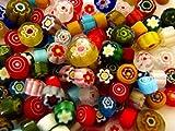 Devardi Glass COE 90 Premium Millefiori, 5 Ounces, Assorted Colors Fusing, Beadmaking