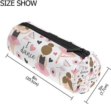 TIZORAX - Estuche para bolígrafos de ballet, bolígrafo con cremallera, organizador de monedas, maquillaje, cosméticos, para mujeres, adolescentes, niñas, niños: Amazon.es: Oficina y papelería