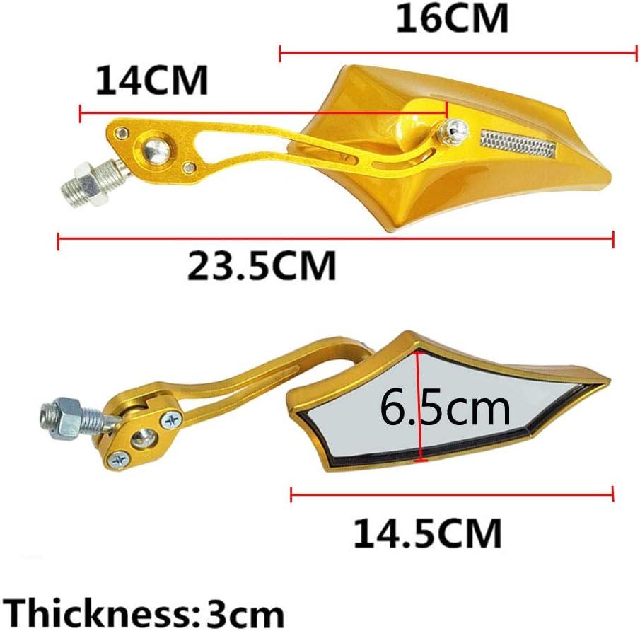 10mm bicyclette Mintice jaune Universel r/étroviseur lat/éral de moto miroir scooter 8