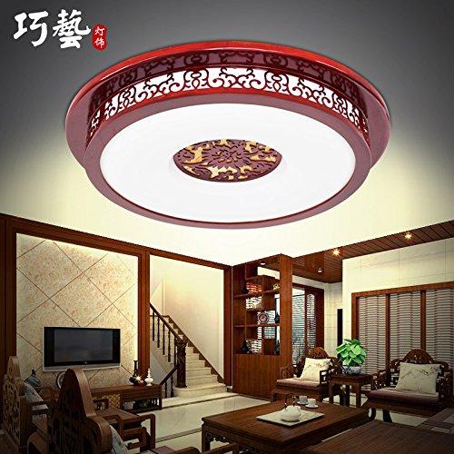 BLYC- Nachahmung des klassischen chinesischen dimmbare Deckenleuchten LED solide Holz Wohnzimmer Schlafzimmer Lampe Licht Beleuchtung moderne minimalistische warme chinesische Lampen 700mm 120mm