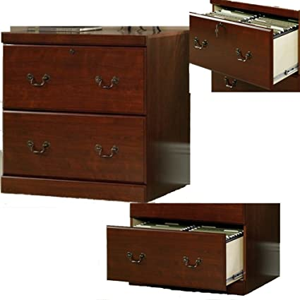 amazon com lockable file cabinet 2 drawer cherry wooden vertical rh amazon com