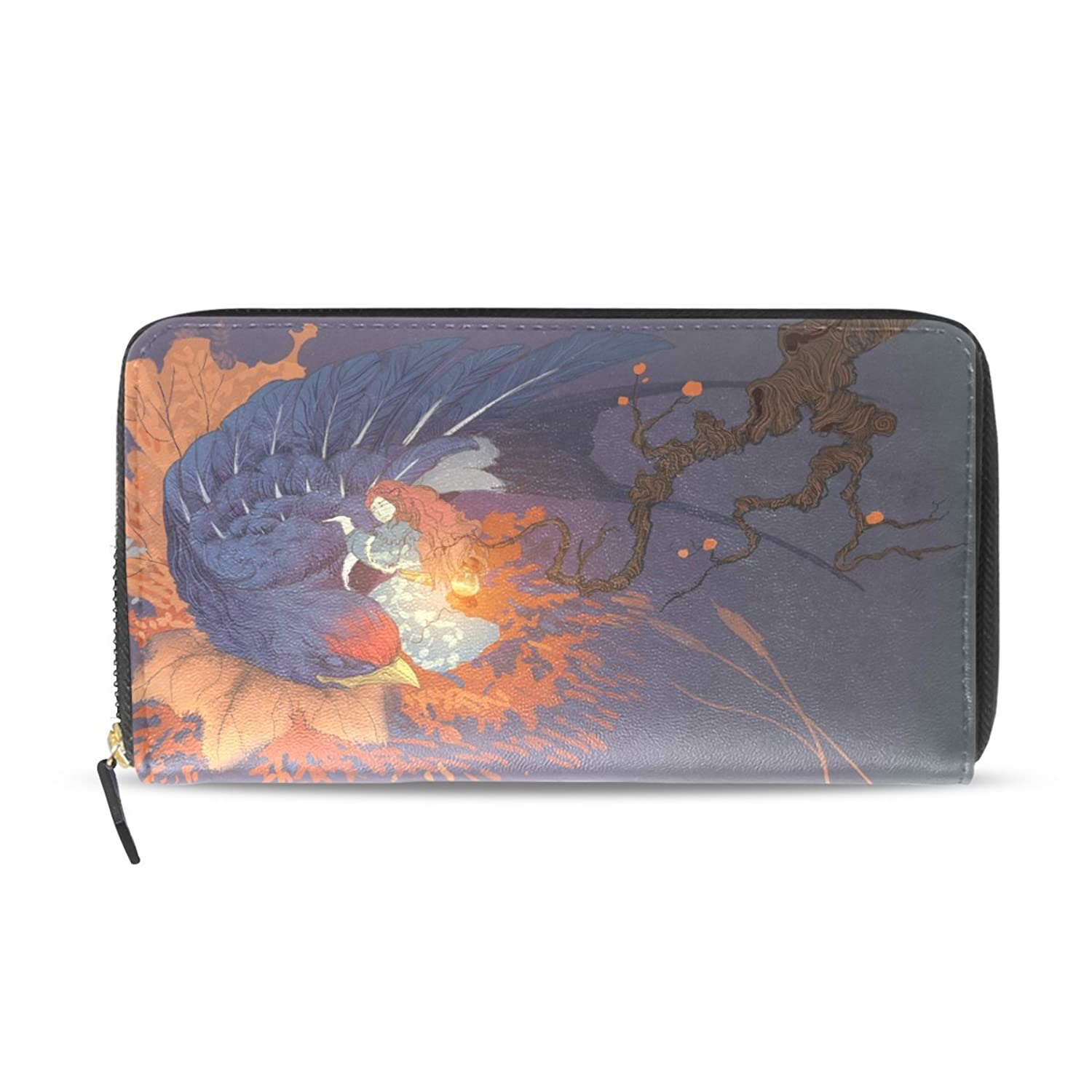 acbc8dc154b5 SCDS Girl And Bird Ladies Wallet Long Purse Hand Bag Notecase 70%OFF ...