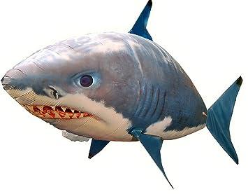 2017 tiburón volante hinchable de helio RC V2 Nylon: Amazon ...