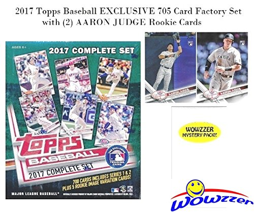 EXCLUSIVE MASSIVE 705 Card Complete Factory Set with TWO(2) AARON JUDGE ROOKIES & Bonus Wowzzer Mystery Pack with AUTOGRAPH or MEMORABILIA Card! Includes all Cards from Series 1 &2 (Topps Factory Set Baseball)