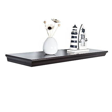 amazon com welland floating shelves espresso wood floating shelves rh amazon com Floating Shelf Espresso Floating Shelf Espresso