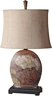Silver Leaf With Brown Glaze Xander Table Lamp Model 27084