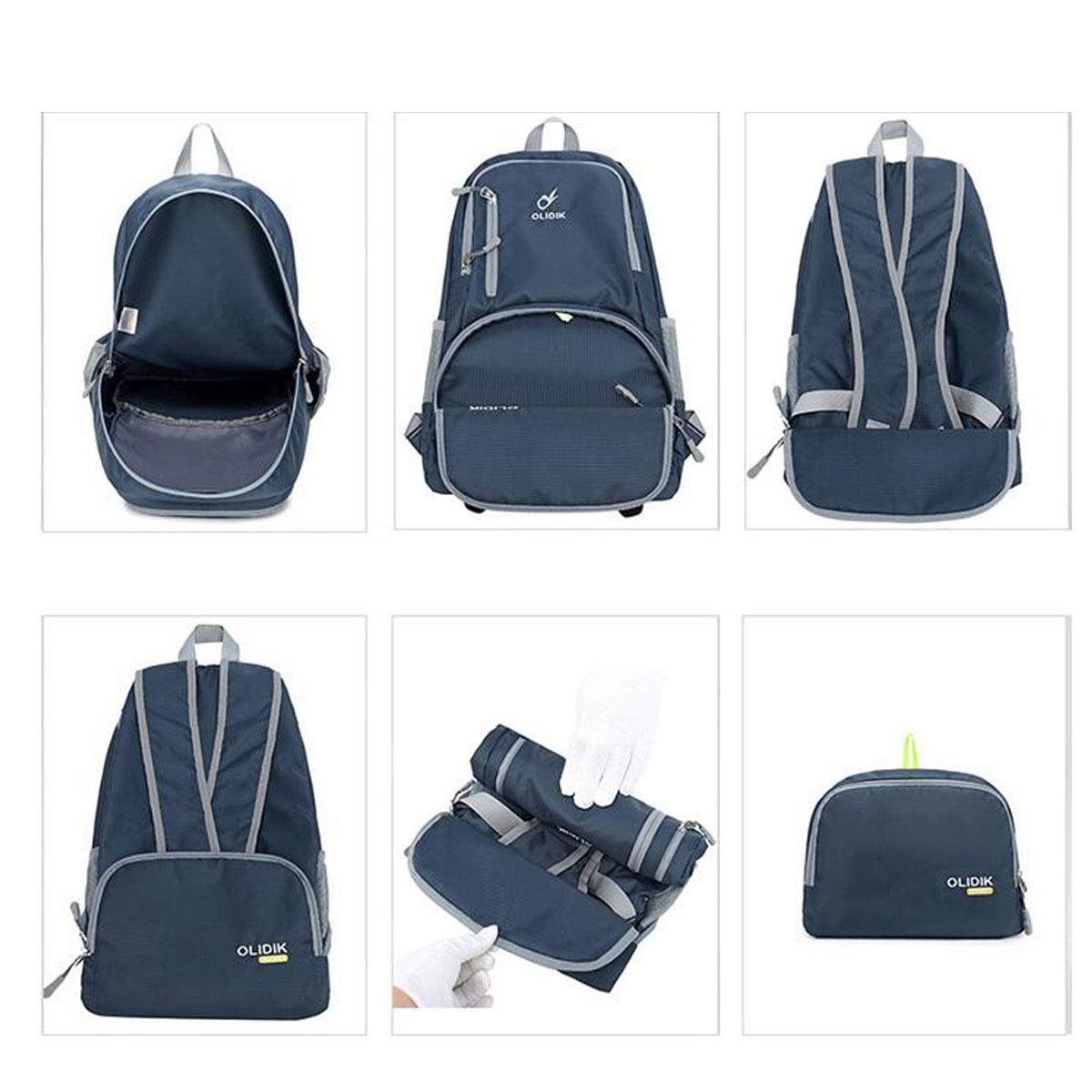 Chenjinxiang01 Outdoor Travel Large-Capacity Skin Pack Foldable Waterproof Travel Backpack Color : Red Black, Blue, Green, Pink, Purple, Red