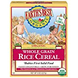 Earth's Best Organic Whole Grain Rice Cereal, 8 Ounce