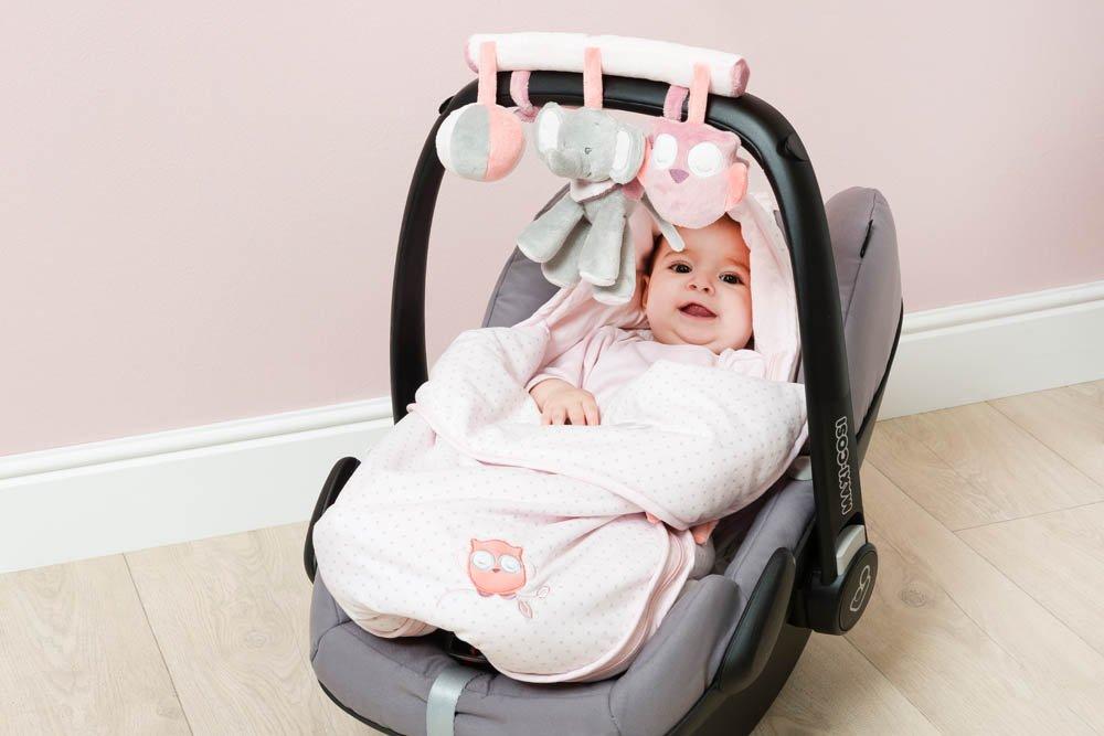 Ad/èle et Valentine Nattou Jouet Si/ège Auto Maxi Cosi Fille rose
