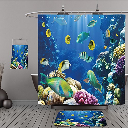 Missoni Home Garden (Uhoo Bathroom Suits & Shower Curtains Floor Mats And Bath Towels 72261667 Photo of a tropical Fish on a coral reef For Bathroom)