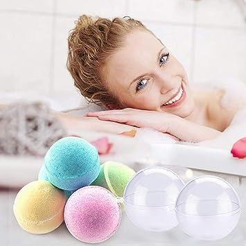 Fhdpeebu Lot de 30 moules en forme de balles de bain 15 moules de 3 tailles et bombes de bain pour accessoires DIY