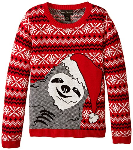 Alex Stevens Girls' Slothy Christmas Sweater -