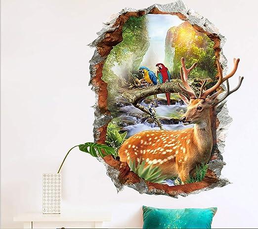 Large Elk Deer Wall Stickers Removable Vinyl Decal Kids Nursery Decor Art Mural
