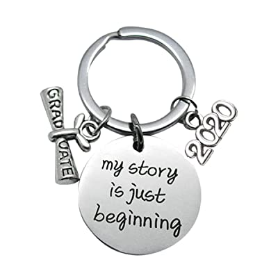 Graduation Gifts Graduation Keychain 2020 My Story is Just Beginning Inspirational Unique Graduates Gifts: Toys & Games