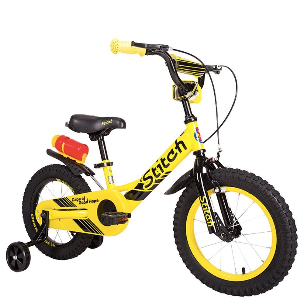 PJ 自転車 自転車キッズバイクハイグレードハイカーボンスチールアンチスキッドショックアブソーバ屋外自転車品質ブレーキシステム子供用自転車キッズバイク 子供と幼児に適しています B07CQYJWFR   14Inch