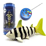 eMart Mini RC Fish Shark Swim in Water Remote Control Boat Electric Toy for Kids Gift - Yellow