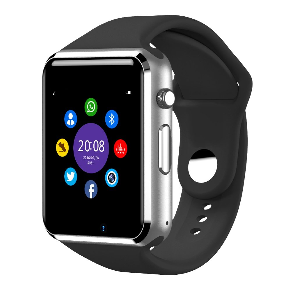 Smart Watch,OURSPOP Bluetooth Touch Screen SmartWatch Unlock Cell Phone SIM 2G GSM With Camera Sleep Monitor,Push Message,Anti lost etc for Men Women Kids Boys Girls