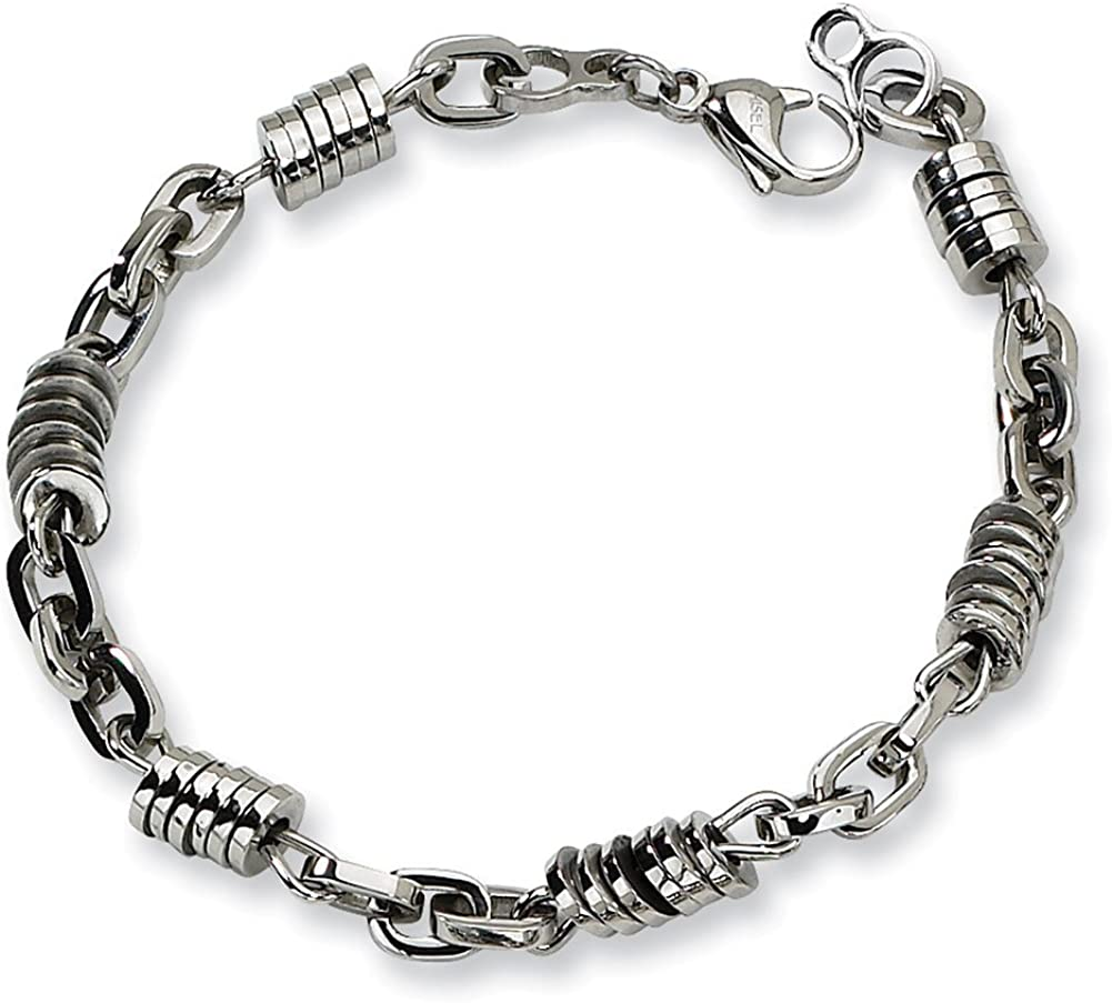 Chisel Stainless Steel Polished 9in Bracelet 9
