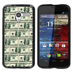 MOBMART Carcasa Funda Case Cover Armor Shell PARA Motorola Moto X 1 1st GEN I - American Dollar Notes