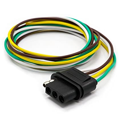 amazon com tirol 4 way flat trailer wire harness extension rh amazon com Trailer Light Connector Trailer Light Connector